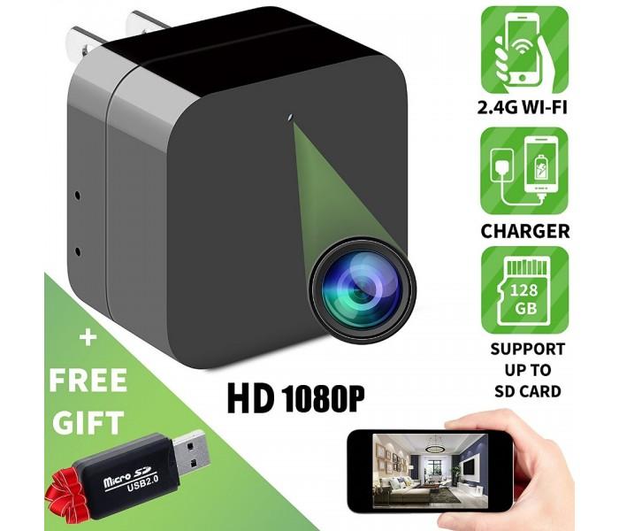 Κρυφή κάμερα- φορτιστής με απομακρυσμένη πρόσβαση μέσω wifi 1080P