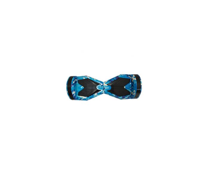 """ΠΑΤΙΝΙ ΙΣΟΡΡΟΠΙΑΣ ΗΛΕΚΤΡΙΚΟ ΜΕ ΡΟΔΕΣ 8"""" SMART BALANCE WHEEL HOVERBOARD CAMOUFLAGE BLUE"""